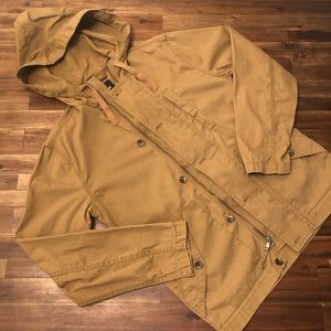 Gap Outlet Hooded Shirt Jacket SMALL